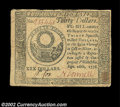 Colonial Notes:Continental Congress Issues, Continental Currency September 26, 1778 $30 Very Fine-...