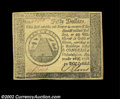 Colonial Notes:Continental Congress Issues, Continental Currency September 26, 1778 $50 Contemporary ...