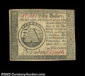Colonial Notes:Continental Congress Issues, Continental Currency September 26, 1778 $50 About New. The ...