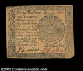 Colonial Notes:Continental Congress Issues, Continental Currency September 26, 1778 $60 Extremely Fine....