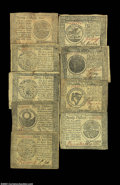 Colonial Notes:Continental Congress Issues, Continental Currency September 26, 1778. Nine notes from ...