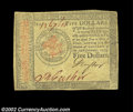 Colonial Notes:Continental Congress Issues, Continental Currency January 14, 1779 $5 Very Fine. There ...