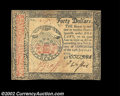 Colonial Notes:Continental Congress Issues, Continental Currency January 14, 1779 $40 Extremely Fine. ...