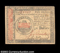 Colonial Notes:Continental Congress Issues, Continental Currency January 14, 1779 $50 Very Fine-...