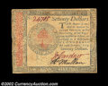 Colonial Notes:Continental Congress Issues, Continental Currency January 14, 1779 $70 Choice New. A ...