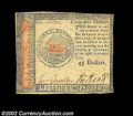 Colonial Notes:Continental Congress Issues, Continental Currency January 14, 1779. A two-denomination ...