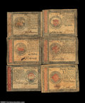 Colonial Notes:Continental Congress Issues, January 14, 1779 Continental group. $1, $5, $20, $35, $45, ...