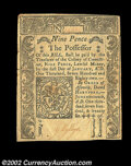 Colonial Notes:Connecticut, Connecticut June 19, 1776 9d Extremely Fine. A few light ...