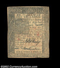 Colonial Notes:Delaware, Delaware January 1, 1776 1s Very Fine-Extremely Fine. A ...
