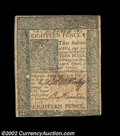 Colonial Notes:Delaware, Delaware January 1, 1776 18d About New. No real folds are ...