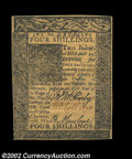 Colonial Notes:Delaware, Delaware January 1, 1776 4s Very Choice New. The margins ...
