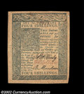 Colonial Notes:Delaware, Delaware January 1, 1776 4s New. This lovely example has ...
