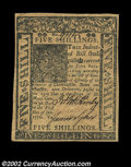 Colonial Notes:Delaware, Delaware January 1, 1776 5s Choice About New. This well ...