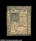 Colonial Notes:Delaware, Delaware January 1, 1776 5s Choice About New. A light ...