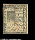 Colonial Notes:Delaware, Delaware January 1, 1776 5s About New. Nicely margined, ...
