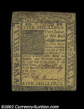 Colonial Notes:Delaware, Delaware January 1, 1776 5s Extremely Fine. Closely ...