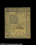 Colonial Notes:Delaware, Delaware January 1, 1776 6s Extremely Fine. A lightly ...