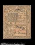 Colonial Notes:Delaware, Delaware January 1, 1776 10s Choice New. Boldly signed and ...