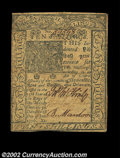 Colonial Notes:Delaware, Delaware January 1, 1776 10s Very Fine. This piece appears ...