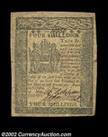 Colonial Notes:Delaware, Delaware May 1, 1777 4s Very Fine. Broadly margined and ...