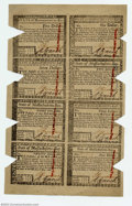 Colonial Notes:Massachusetts, Massachusetts May 5, 1780 Sheet of Eight. This is the ...
