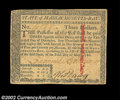 Colonial Notes:Massachusetts, Massachusetts May 5, 1780 $3 About New. Canceled with an ...