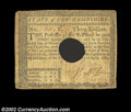 Colonial Notes:New Hampshire, New Hampshire April 29, 1780 $3 About Very Fine. Hole ...