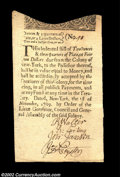 Colonial Notes:New York, New York November 1, 1709 Silver Issue 4 Lyon Dollars (2 ...