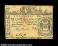 Colonial Notes:New York, New York February 16, 1771 L5 Extremely Fine. There are a ...