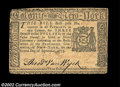 Colonial Notes:New York, New York September 2, 1775 $3 Extremely Fine. Both the New ...