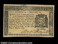 Colonial Notes:New York, New York March 5, 1776 $1/8 Very Choice New. One of the ...