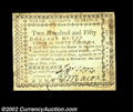 Colonial Notes:North Carolina, North Carolina May 10, 1780 $250 Extremely Fine. Only one ...