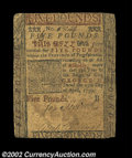 Colonial Notes:Pennsylvania, Pennsylvania May 20, 1759 L5 Fine-Very Fine. A very nice ...