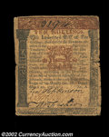Colonial Notes:Pennsylvania, Pennsylvania March 20, 1771 10s Very Fine. A rather scarce ...