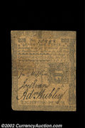 Colonial Notes:Pennsylvania, Pennsylvania April 3, 1772 18d Very Fine. A nice example ...