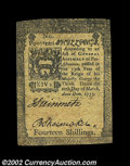 Colonial Notes:Pennsylvania, Pennsylvania March 20, 1773 14s Extremely Fine. Four small ...