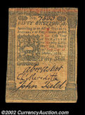 Colonial Notes:Pennsylvania, Pennsylvania October 1, 1773 50s Extremely Fine-About New. ...
