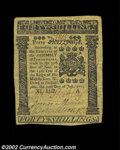 Colonial Notes:Pennsylvania, Pennsylvania July 20, 1775 40s Extremely Fine. An ...