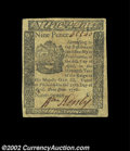 Colonial Notes:Pennsylvania, Pennsylvania April 25, 1776 9d Extremely Fine. A well ...