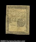 Colonial Notes:Pennsylvania, Pennsylvania April 20, 1781 6d Extremely Fine. A very nice ...