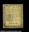 Colonial Notes:Pennsylvania, Pennsylvania April 20, 1781 9d Extremely Fine. This is a ...