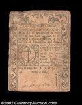 Colonial Notes:Rhode Island, Rhode Island September 5, 1776 $1/8 Very Fine. This is a ...