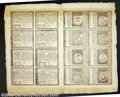 Colonial Notes:Rhode Island, Rhode Island July 2, 1780 Complete Sheet of 16. Fully ...