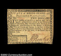 Colonial Notes:Rhode Island, Rhode Island July 2, 1780 $2 Very Choice New. A bright, ...