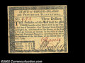 Colonial Notes:Rhode Island, Rhode Island July 2, 1780 $3 Superb Gem New. An absolutely ...