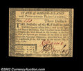 Colonial Notes:Rhode Island, Rhode Island July 2, 1780 $3 Choice New. Fully signed on ...