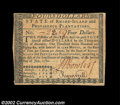 Colonial Notes:Rhode Island, Rhode Island July 2, 1780 $4 About New. One very light ...