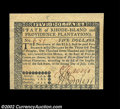 Colonial Notes:Rhode Island, Rhode Island July 2, 1780 $5 Very Choice New. This ...