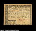 Colonial Notes:Rhode Island, Rhode Island July 2, 1780 $5 Choice New. A typical ...