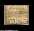 Colonial Notes:Rhode Island, Rhode Island July 2, 1780 $8 About New. Fully signed on ...